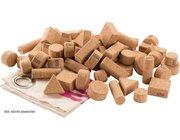 Korkbausteine natur, 60 Stück im Baumwollbeutel, ab 2 Jahre