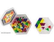 Prismo transparent in Geschenkdose, 100 Dreiecke inkl. Rahmen und Vorlagen