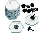 Prismo Kreiselrahmen klein 10er-Set durchgefärbt