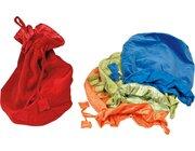 Samtbeutel-Set groß, bunt, 4 Stück - rot, blau, grün, orange