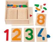 Zahl im Brett, Zahlenpuzzle, ab 3 Jahre