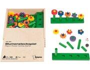 Blumensteckspiel im Holzkasten, ab 3 Jahre