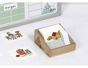 Box mit Karten für Magnettafel Plan