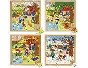 Jahreszeitenpuzzles 2 - 4er Set, ab 4 Jahre
