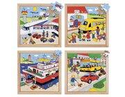 Transport-Puzzles - 4er Set, ab 4 Jahre