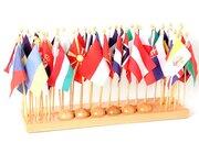 Flaggenständer mit Flaggen (Europa), ab 5 Jahre