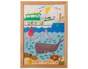 Drunter und drüber Puzzle - im Meer, 28 Teile mit Holzrahmen, ab 4 Jahre