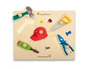 Holz-Puzzle große Griffe Werkzeug, ab 3 Jahre