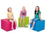 Pänz Spiel- und Sitzwürfel hellblau, phthalatfrei, 50 x 45 cm