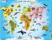Larsen Lernpuzzle Tiere der Welt