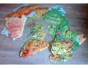 Bodenpuzzle Deutschland physisch, 32 Teile