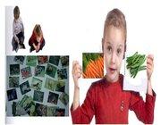 Double Game Gemüse, Bodenspiel aus Teppichfliesen