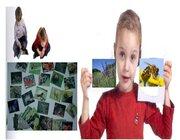 Double Game Lebensraum Wiese Outdoor, Bodenspiel aus Teppichfliesen