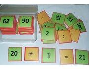 Hunderter-Teppichfliesen Satz in Box