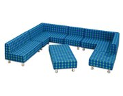 Flexeo Neo Komplettset Relax, Sitzgruppe, Kunstleder blau, Sitzhöhe 29 cm