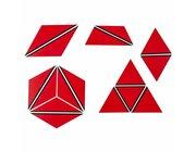 Satz Konstruktive Dreiecke Rot, ab 3 Jahre