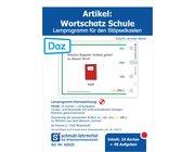 Stöpselkarten 'Artikel: Wortschatz Schule (DaZ)'