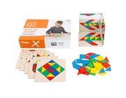 Legespiel Geometrische Formen mit Aufgabenkarten, ab 3 Jahre