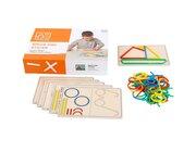 Ringe und Stöckchen, Legespiel mit Aufgabenkarten, ab 3 Jahre