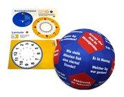Lernspielball Zeit inklusive Bastelbogen Lernuhr / Sonnenkompass