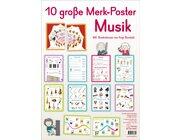 10 große Merk-Poster Musik, 1.-4. Klasse