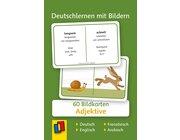 Deutschlernen mit Bildern - Adjektive, Bildkarten, 3-6 Jahre
