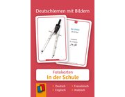 Deutschlernen mit Bildern - In der Schule, Bildkarten, 3-6 Jahre