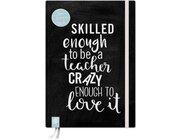 Das Notizbuch für Lehrerinnen und Lehrer, A5, live – love – teach – schwarze Edition
