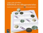Legen statt schreiben: Sudokus mit Alltagsmaterialien, 72 Karten
