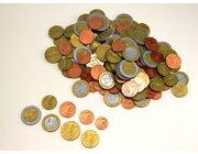 EURO - Rechengeld 160 Münzen im Polybeutel