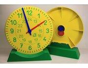 Große Lernuhr gelb-grün aus RE-Plastic°