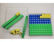 Hundertersteckplatte, 29 Teile aus RE-Plastic° in Kunststoffbox