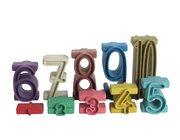 Stapelzahlen - Zahlenbausteine in Montessori-Farben aus RE-Wood®