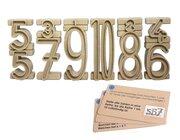 Stapelzahlen - Zahlenbausteine naturfarben aus RE-Wood® mit Aufgabenkärtchen