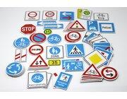Verkehrszeichen, 64 Stück, magnetisch