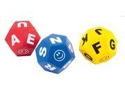 Spordas® Buchstabenwürfel, 3er Set