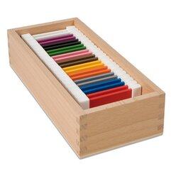 Kasten mit je zwei Täfelchen in 11 Farben