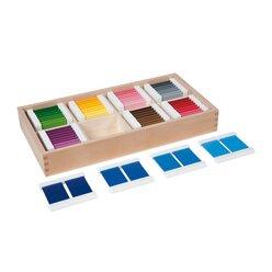 Farbtäfelchen, Kasten mit 32 Paaren
