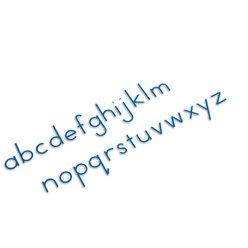 Bewegliches Alphabet, klein, Druckschrift blau