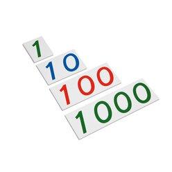 Große Zahlenkarten aus Pappe, 1-1000