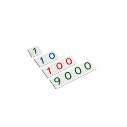 Kleine Zahlenkarten, 1-9000, ab 4 Jahre
