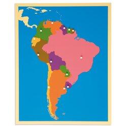 Puzzzlekarte Südamerika