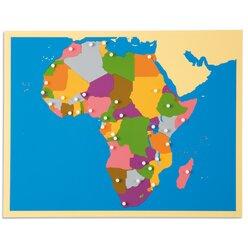 Puzzlekarte Afrika