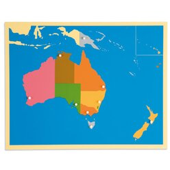 Puzzlekarte Australien