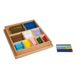 Montessori Rechenstäbchen farbig im Kasten