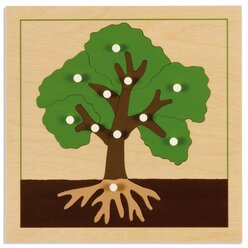 Botanisches Puzzle: Baum