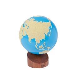 Globus Land - Wasser, 1 mit Sandpapierstruktur