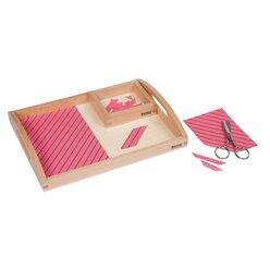 Holztablett mit Übungen zum Schneiden 17 x 23 x 2 cm