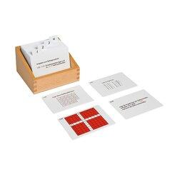 Pythagorasbrett, Kasten mit Aufgabenkarten