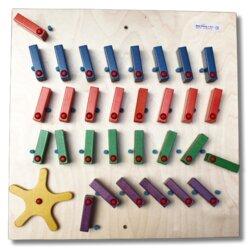 Wandspiel Domino 4 Reihen mit Rad